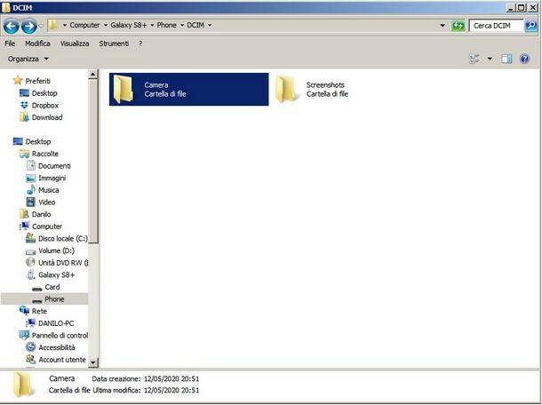 Trasferire file da PC a scheda SD Samsung