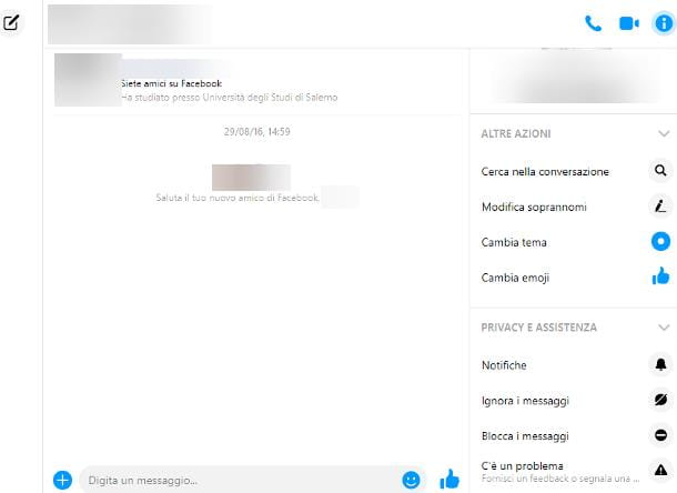 Come bloccare messaggi Messenger