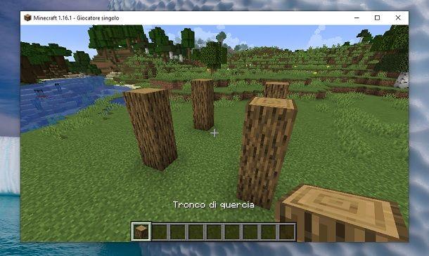 Colonne tronchi Minecraft