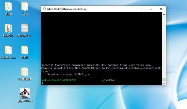 Creazione file jar server Spigot