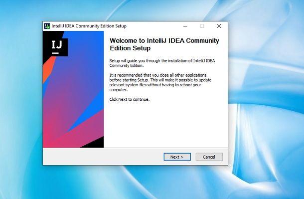Installazione IntelliJ IDEA Windows