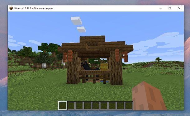 Come fare una stalla per cavalli su Minecraft