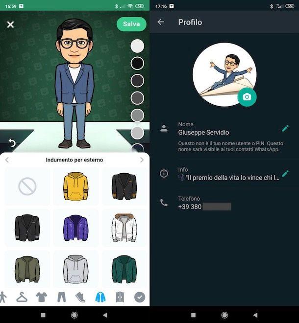 Avatar WhatsApp Android