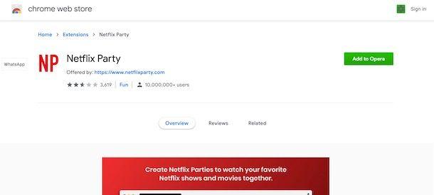 Installare Netflix Party su Opera