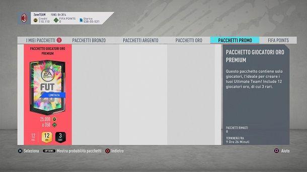 Pacchetto speciale Negozio FIFA 20