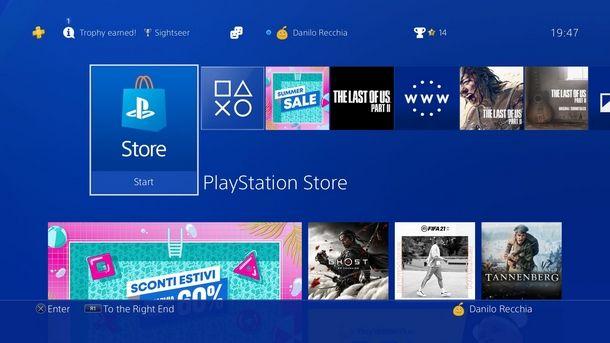 Iscriversi al PlayStation Network per entrare nel PS Store