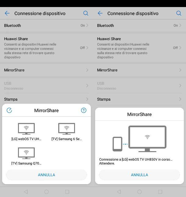 MirrorScreen su Android