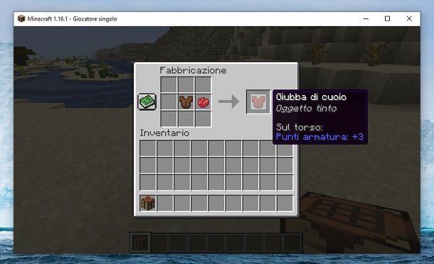 Giubba di cuoio rossa Minecraft