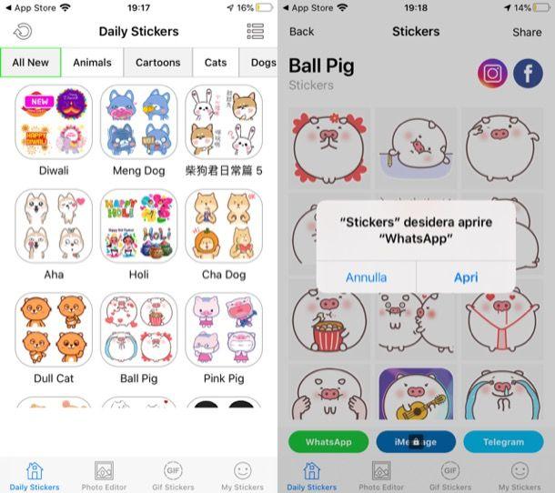 Sticker WhatsApp iPhone
