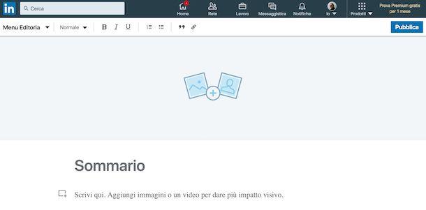 Condividere contenuti con LinkedIn Pulse