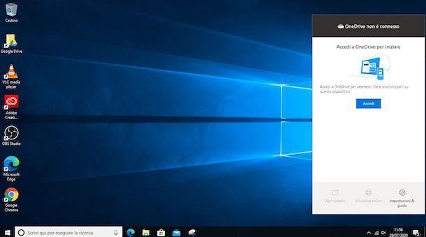 Come accedere a OneDrive da PC Windows