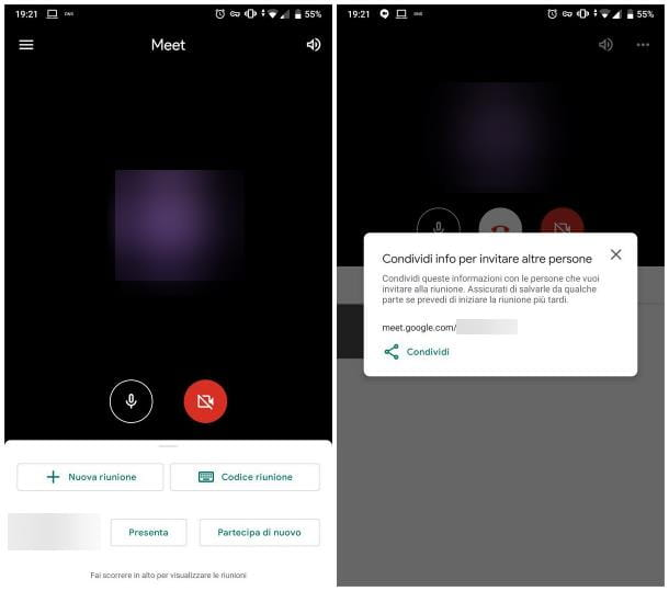 Come accedere a Google Meet da cellulare
