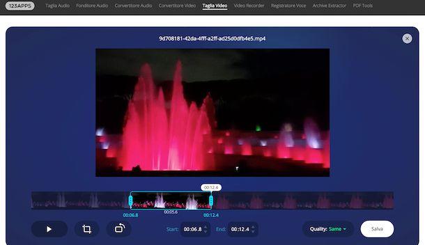 Taglia Video Online di 123apps
