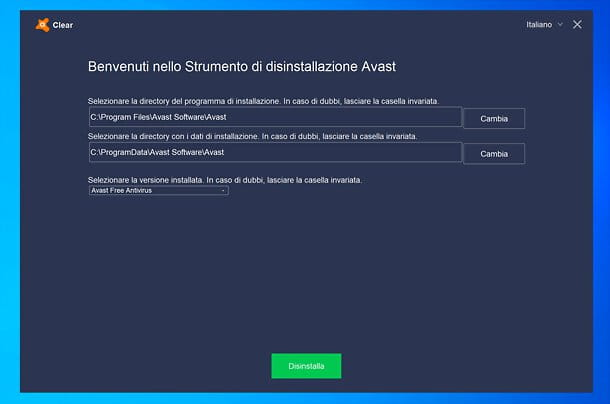 Avast Removal Tool