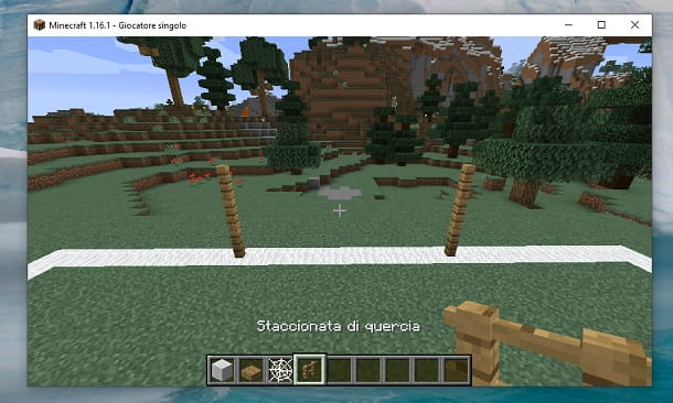 Staccionate di quercia Minecraft
