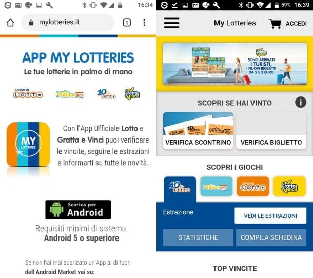 My Lotteries Android