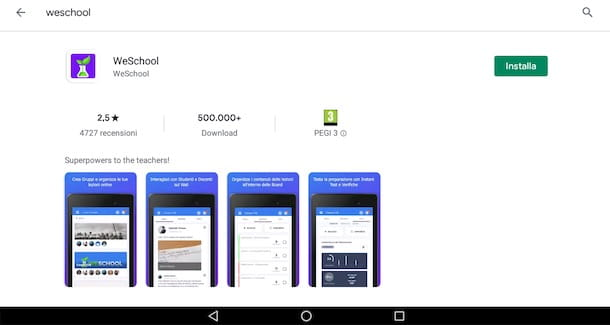 Come scaricare WeSchool su Android
