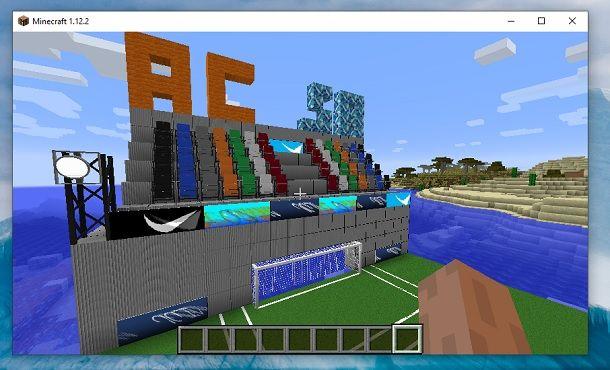 Spalti campo calcio Minecraft