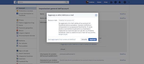 Come cambiare email Spotify con Facebook
