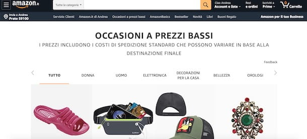 Occasioni a prezzi bassi su Amazon