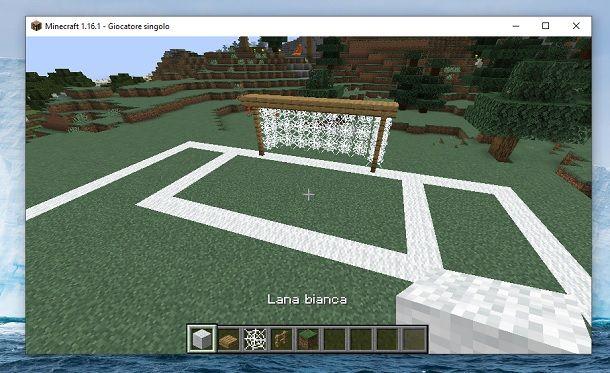 Area calcio Minecraft