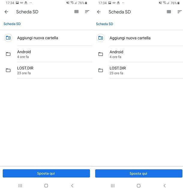 Usare app Files di Google per esplorare le risorse dello smartphone