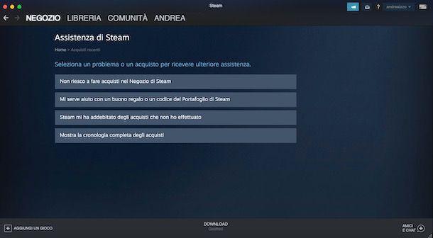 Assistenza Steam