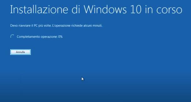 Aggiornare a Windows 10