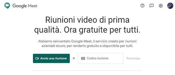 Accedere a Google Meet