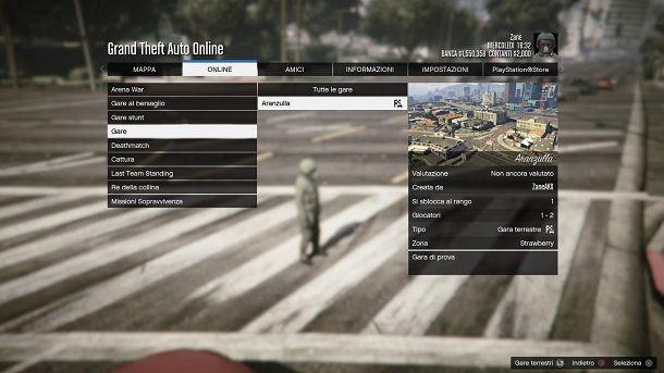 Gara creata GTA Online