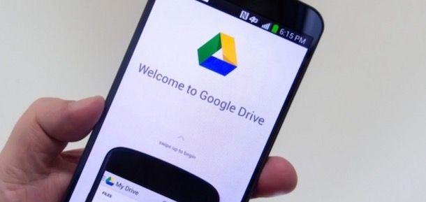 Google Drive su smartphone
