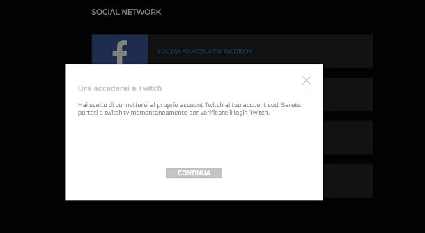Account Twitch continua