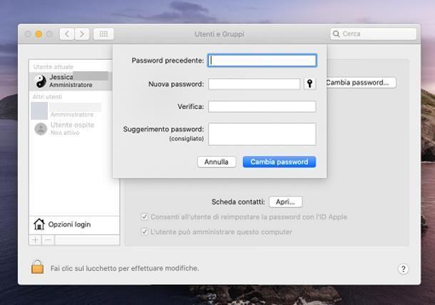 Come reimpostare password PC
