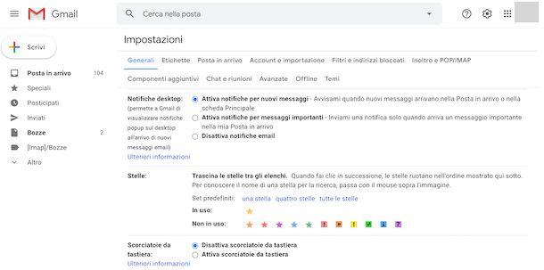Notifiche Gmail Web