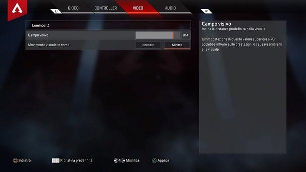 Migliori impostazioni video Apex Legends PS4