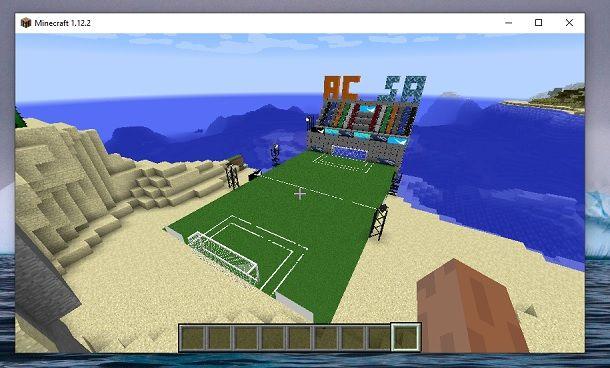 Campo calcio Salvatore Aranzulla Minecraft