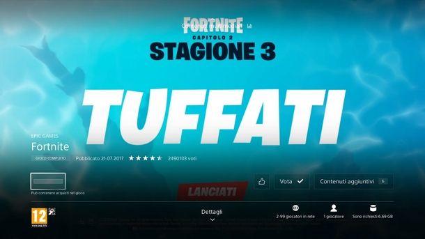 Avviare il download di Fortnite su PS4