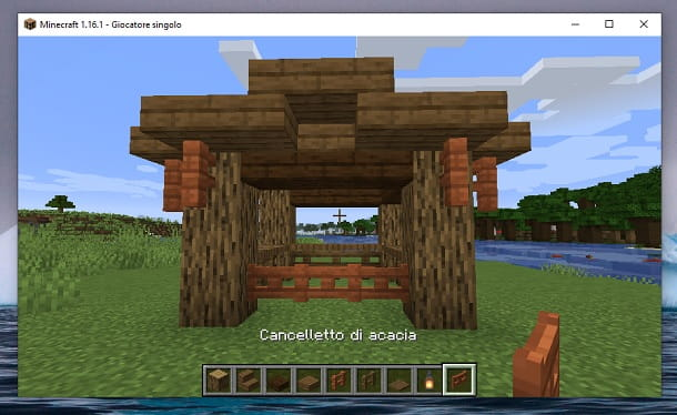 Cancelletto di acacia Minecraft