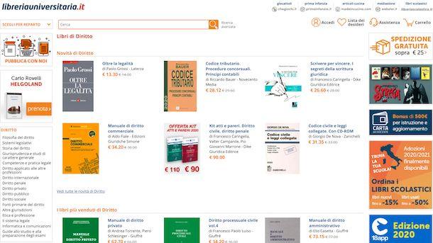 Libreria Universitaria online