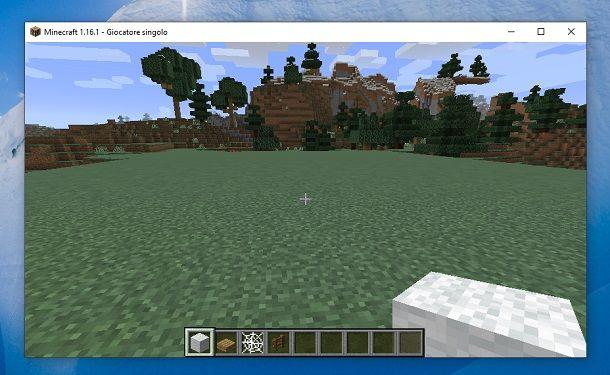 Spazio libero Minecraft