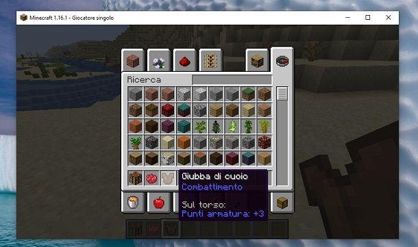 Inventario Minecraft