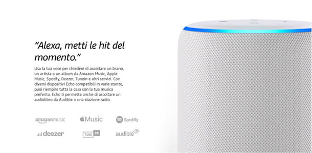Come funziona Alexa per la musica