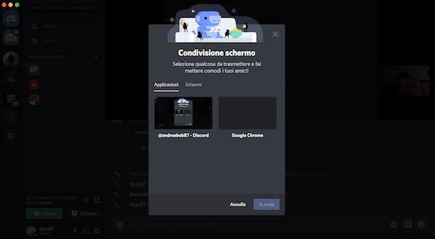 Come condividere lo schermo su Discord da computer