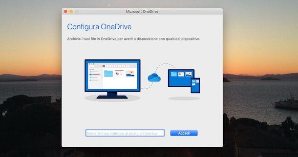 Come accedere a OneDrive da Mac