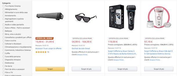 Offerte di oggi su Amazon