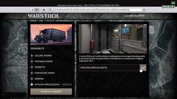 Officina specializzata Terrorbyte GTA Online