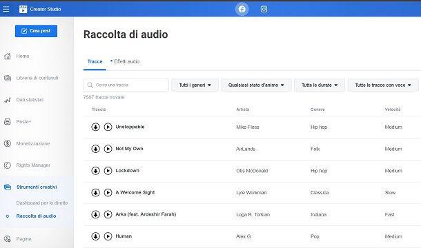 Raccolta di audio