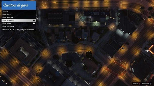 Tipologia gare Editor Rockstar GTA Online