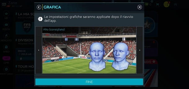 Opzioni grafiche FIFA Mobile