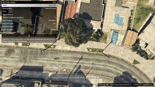 Dettagli gara GTA Online
